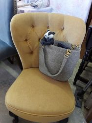 Very nice and comfortable button back chair £80